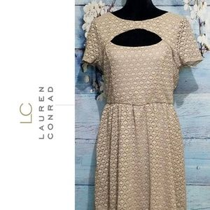 LC Lauren Conrad Lace Choker Dress Womens XL EUC